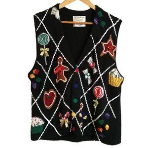 Vintage Ugly Christmas Multicolored Vest, size L